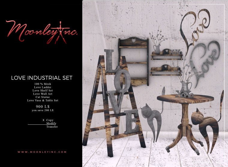 Moonley Inc. - Love Industrial Set
